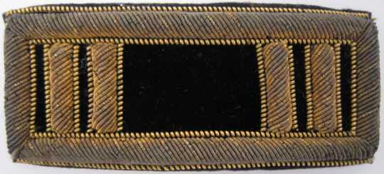 Color image of Captain's uniform shoulder insignia, worn by Captain Mahlon Black, Second Company of Minnesota Sharpshooters, 1862–1865.