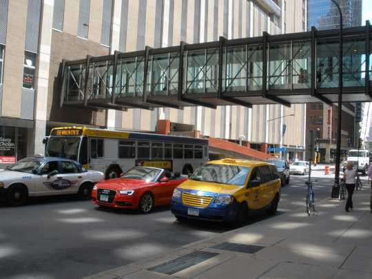 Color image of 7th Street skyway exterior