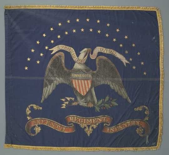 Battle flag of the Seventh Minnesota.