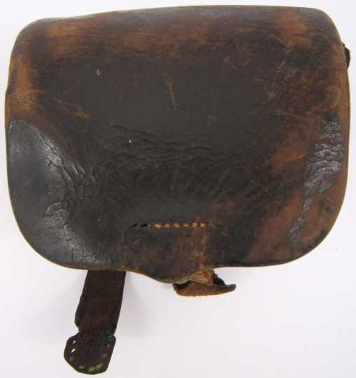 Color image of Civil War percussion cap box used by Hans H. Danielson of Company G, Seventh Minnesota Volunteer Infantry Regiment.