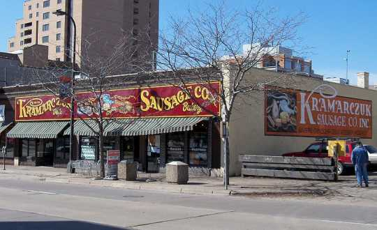 Exterior of Kramarczuk Sausage Company in Minneapolis