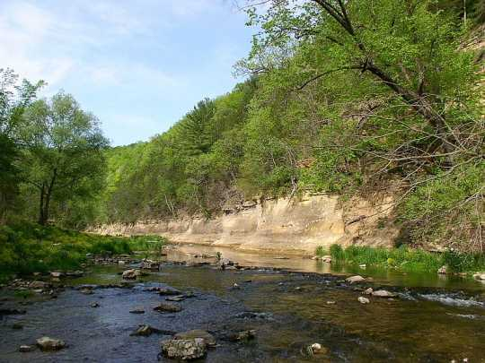 Whitewater State Park, May 22, 2009. Photo by Wikimedia Commons user McGhiever. CC BY-SA 3.0