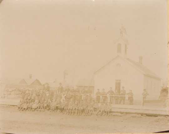 Photograph of Waconia public school (District #44) c.1892. Photograph Collection, Carver County Historical Society, Waconia.