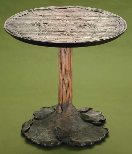 John Scott Bradstreet, Lotus Table, ca. 1903–1907, cypress wood, Minneapolis Institute of Art.