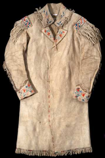 Color image of a Quilled coat, ca. 1851.
