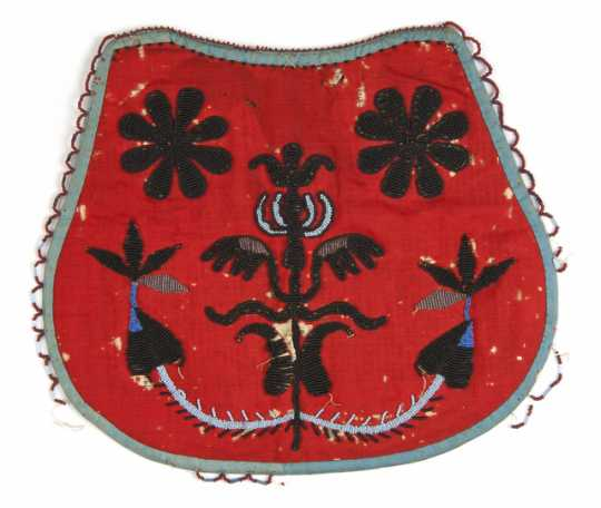 Beaded bag made by Margeurite Metivier (Dakota), ca.1860.