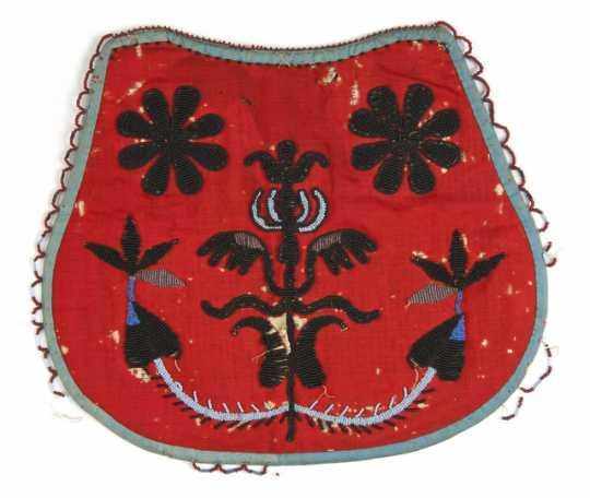Beaded bag made by Margeurite Metivier (Dakota), ca.1860.