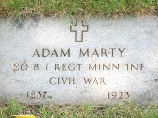 Adam Marty's Grave