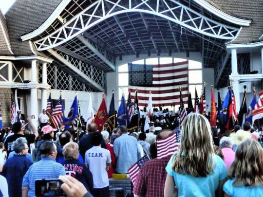 Color guard ceremony at Lake Harriet bandshell