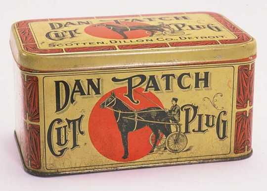 Dan Patch tobacco tin