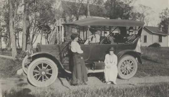 Hannah Kempfer with her Model T Ford
