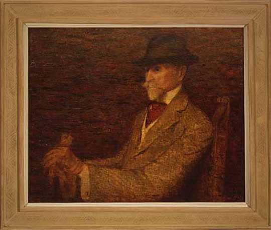 Oil on canvas painting of John S. Bradstreet. Painting by Edwin Hawley Hewitt, 1913.
