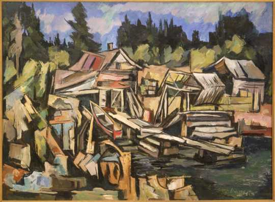 """""""Beaver Bay,"""" oil-on-canvas painting by Elof Wedin, 1935."""
