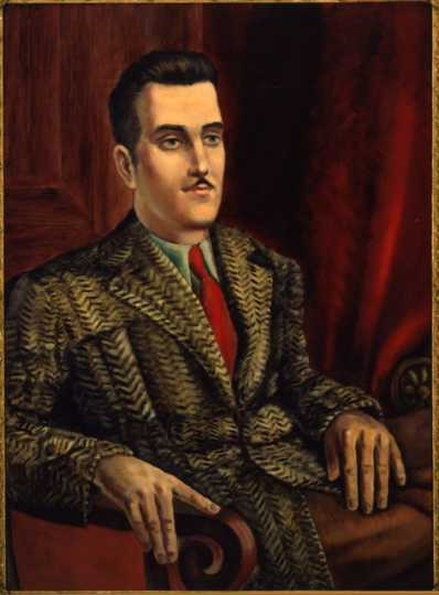Carroll Simmons, c.1940. Oil on masonite by Clement Haupers.