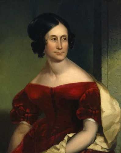 Oil portrait of Abigail Hunt Snelling, c.1818.