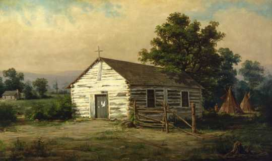Oil-on-canvas painting of the Chapel of St. Paul by Alexis Jean Fournier, 1888.