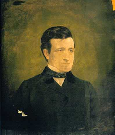 Pastel drawing on paper made c.1900 of John Ball Brisbin, the St. Paul lawyer who defended Ann Bilansky in her 1859 murder trial, as he appeared c.1860.
