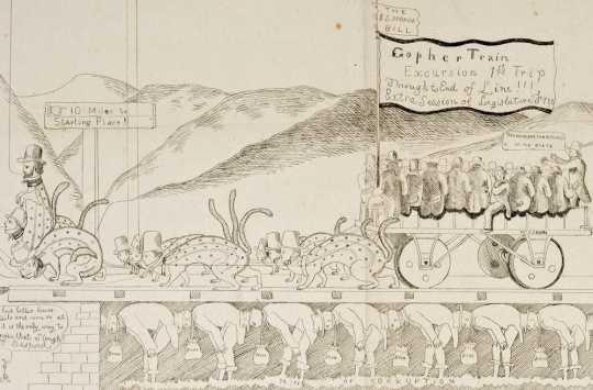 """Gopher Train"" illustration"
