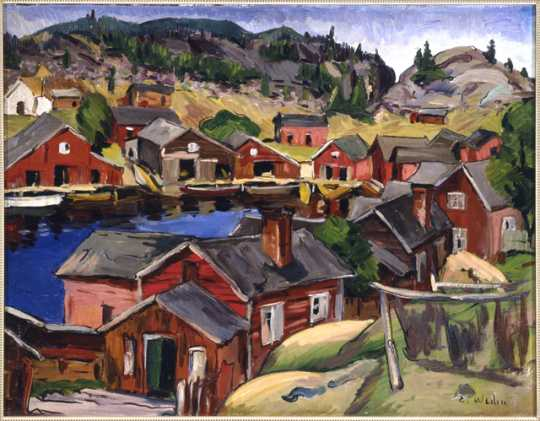 """Back in Sweden,"" oil-on-canvas painting by Elof Wedin, 1935."