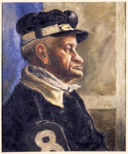Color image of Dirt Track Specialist oil painting by George Morrison, 1940.