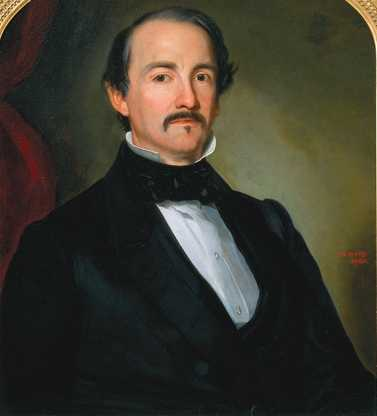 Oil-on-canvas painting of Henry H. Sibley, 1860.