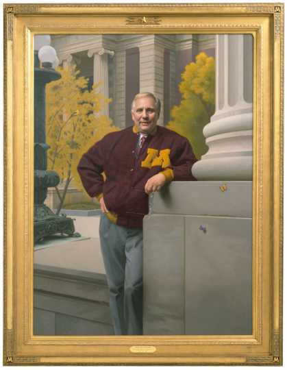 Oil-on-canvas portrait of Governor Arne Carlson by Stephen Gjertson, 1999