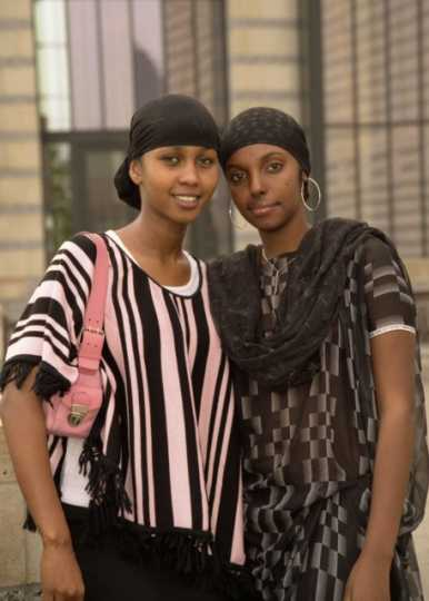 Photograph of Sumaya Yusuf and Bibi Abdalla