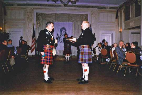 Presentation during Burns Night Supper