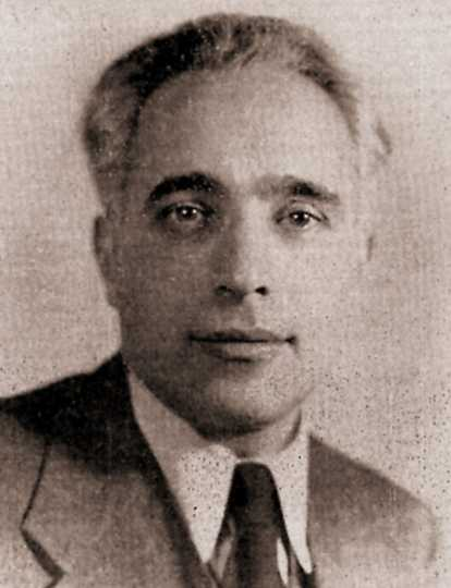 Black and white photograph of Albert Goldman, one of the defendants in the Smith Act Trial and the leader of the group's legal defense, ca. 1942.