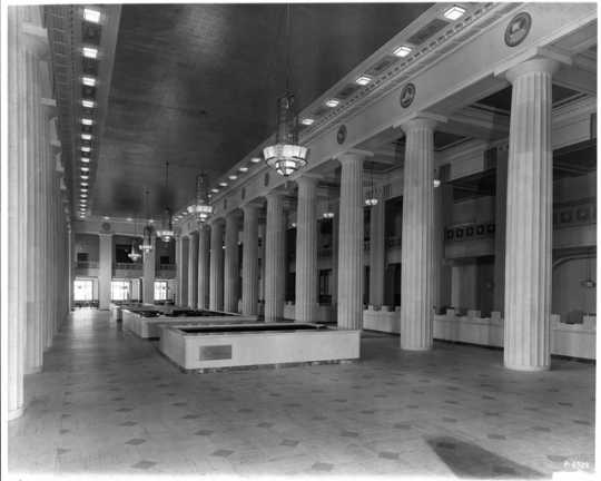 Second floor interior, Northwestern National Bank, Minneapolis, ca. 1930