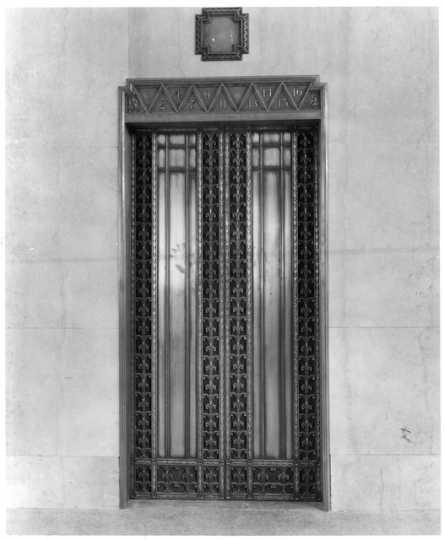 Elevator inside Northwestern National Bank, Minneapolis