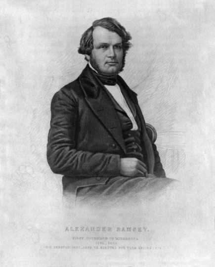 Engraving of Alexander Ramsey, 1850