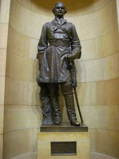 Statue of Alexander Wilkin erected in the Minnesota State Capitol building in 1910.