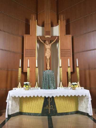 The altar inside the Church of St. Columba