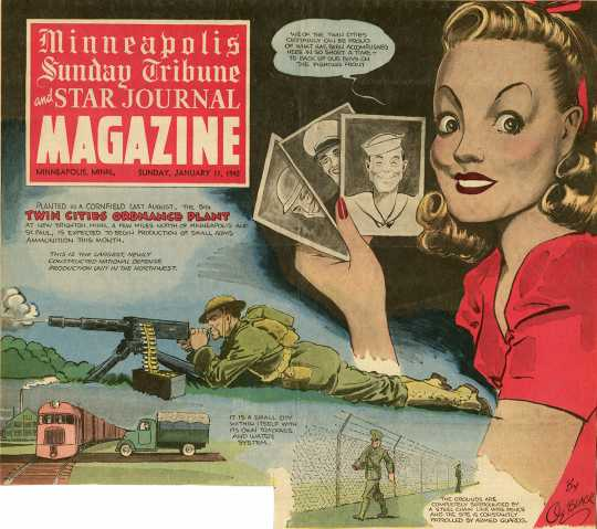 Twin Cities Ordinance Plant magazine cover, Minneapolis Sunday Tribune