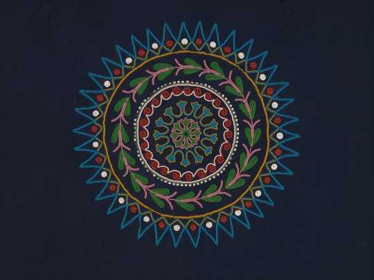 Anishinaabe or Dakota dance blanket (detail)