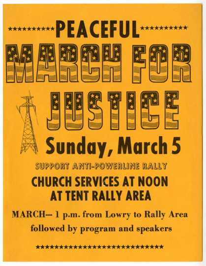 Anti-power-line rally poster