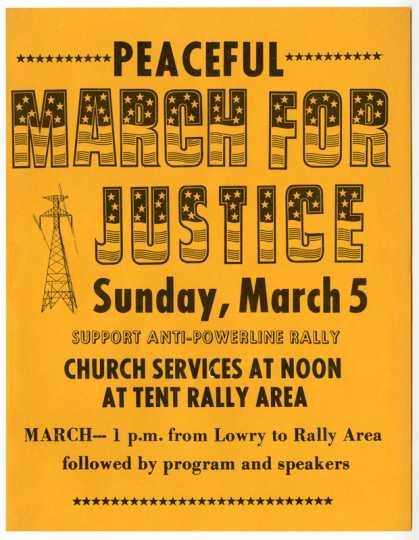 Anti-power-line rally poster