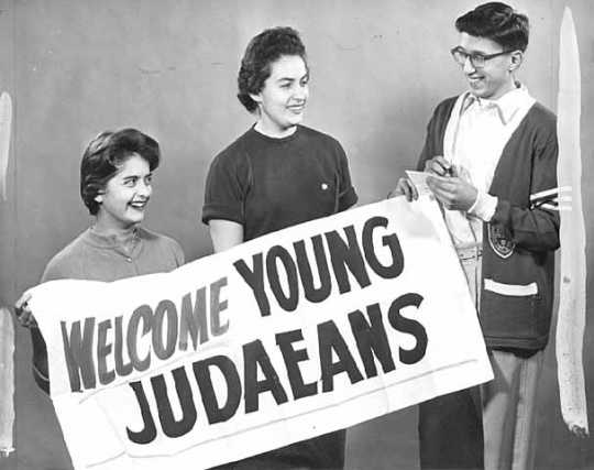 Black and white photograph of Young Judea convention at Sons of Jacob.