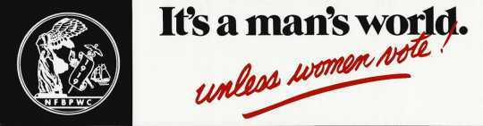 Color image of a BPWC bumper sticker with the club's emblem, 1970s. At the time, the sticker cost 75 cents.