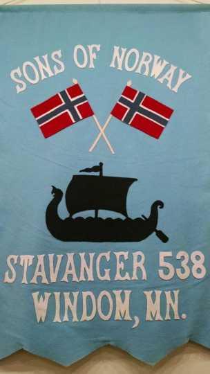 Sons of Norway Stavanger Lodge 538 banner