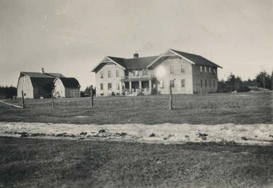 Main building and barn, Beltrami County Poor Farm