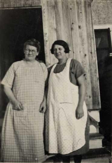 Two Beltrami County Poor Farm staff