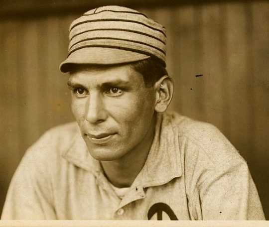 Black and white photograph of Charles Bender, 1911.