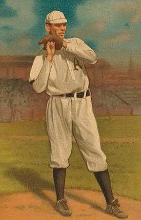 Color image of Charles Bender baseball card, 1911.