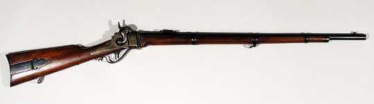 Color image of an 1859 Sharps rifle.