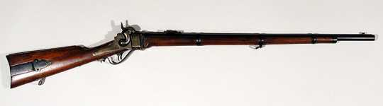 Color image of an 1859 Sharps rifle.