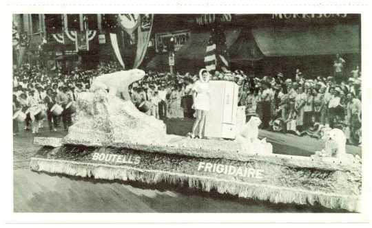 Boutell's frigidaire Aquatennial parade float, ca. 1950