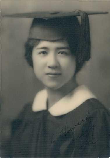 Ruth Nomura's college graduation photo