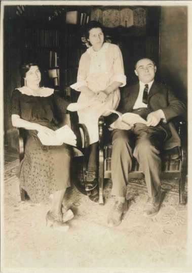 Anna Dickie Oleson with her husband and daughter